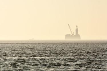 Die Bohr- und Förderinsel Mittelplate im schleswig-holsteinischen Wattenmeer