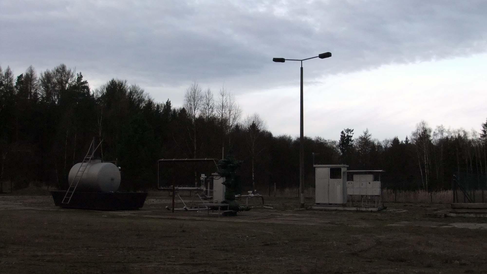 """Im Dezember 2010 gefracte Erdgasbohrung """"Mellin 20"""" ©chef79"""