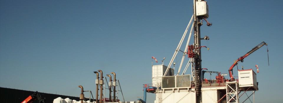 Erdölbohrung Leopoldshafen 20-Bohrarbeiten haben begonnen