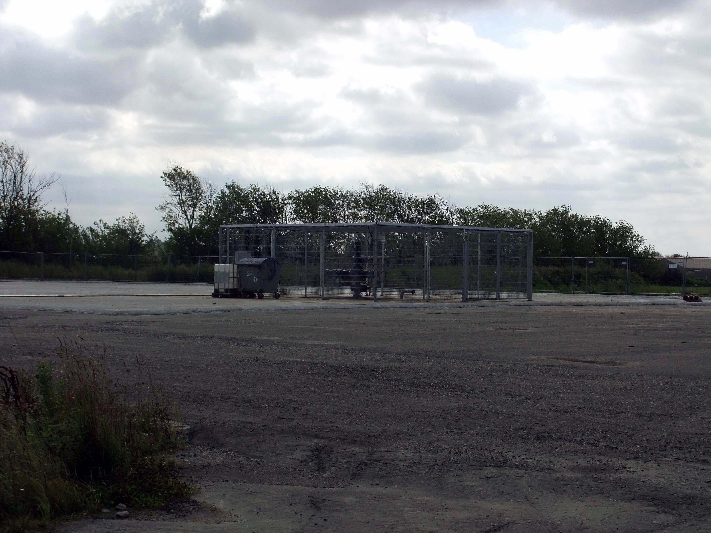 """Erdölerkundungsbohrung """"E Barth 11/2011"""" der CEP im September 2012 ©chef79"""