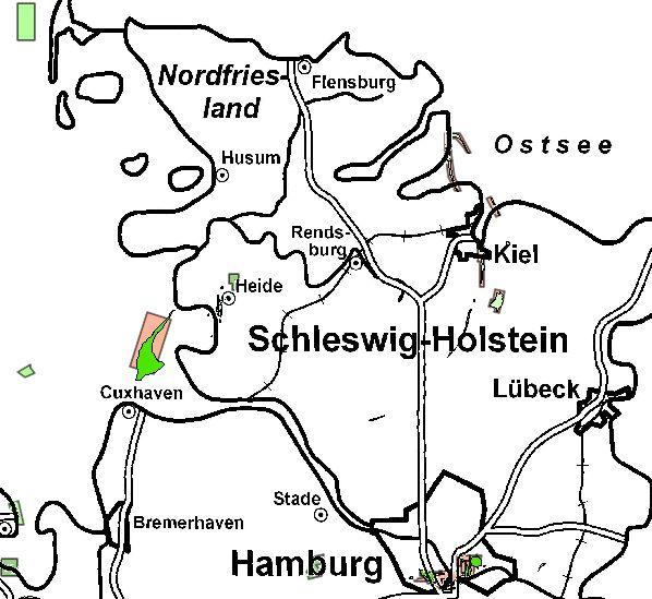 Bewilligungen in Schleswig-Holstein Quelle: LBEG-Kartenserver