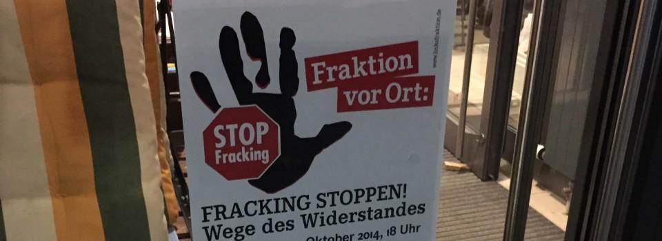 """Eindrücke von einer Veranstaltung zum """"Fracking"""""""