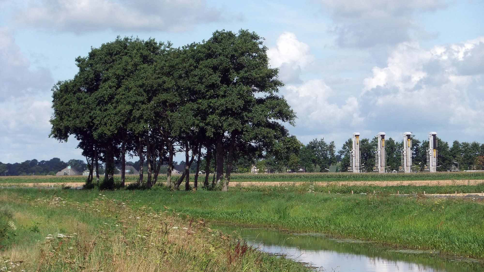 Erdölförderbohrungen im wiedererschlossenen Feld Schoonebeek ©chef79