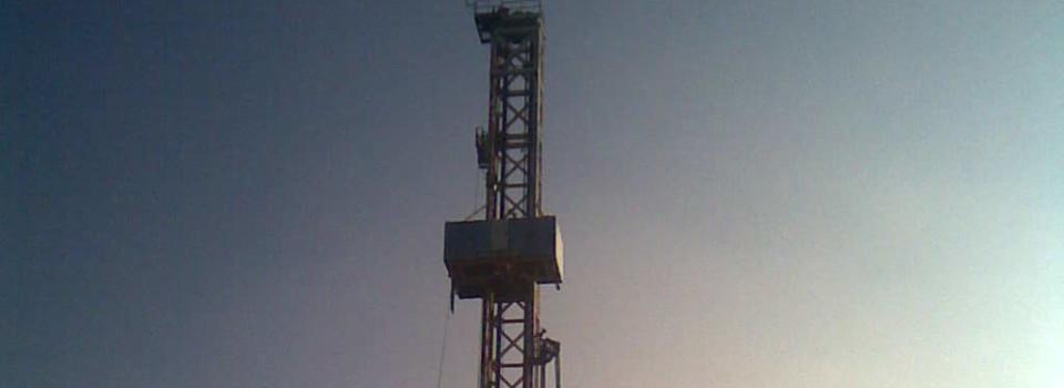 """Umweltaktivisten """"überwachen"""" Erdöl-Testförderung in Vorpommern"""
