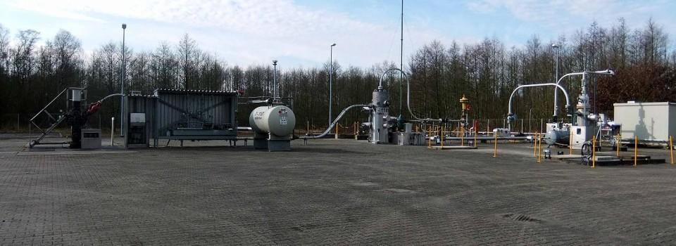 Eine der Förderbohrungen des Erdgasförderbetrieb Söhlingen