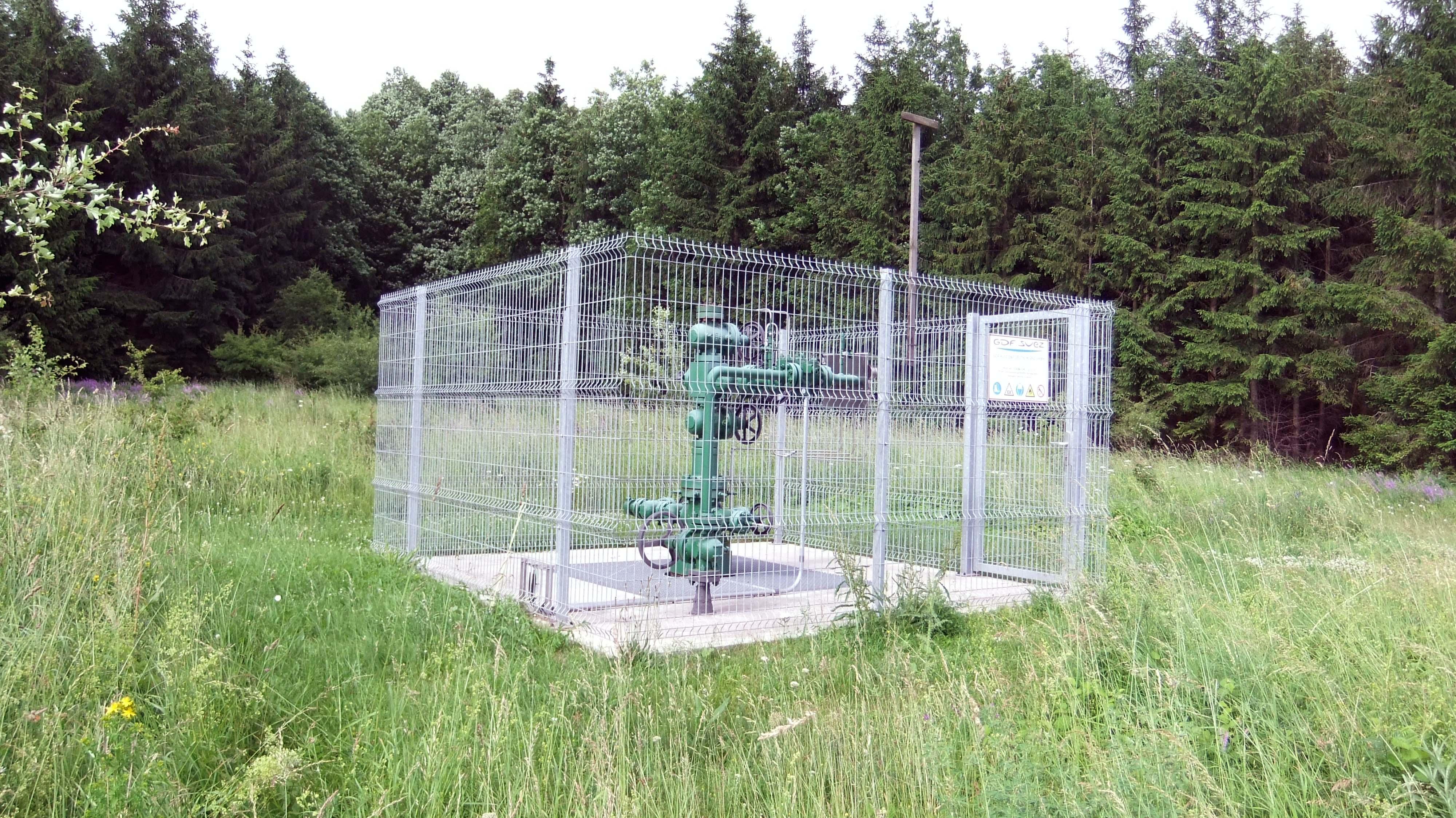 """Erdgasförderbohrung """"Mühlhasen 14"""" aus dem Jahr 1958 ©chef79"""