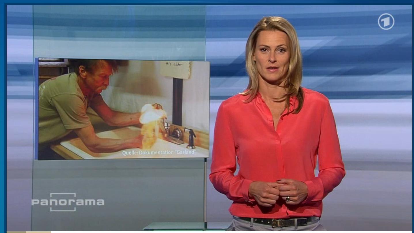 """Panorama und der """"Brennende Wasserhahn"""". Screenshot aus der Mediathek"""