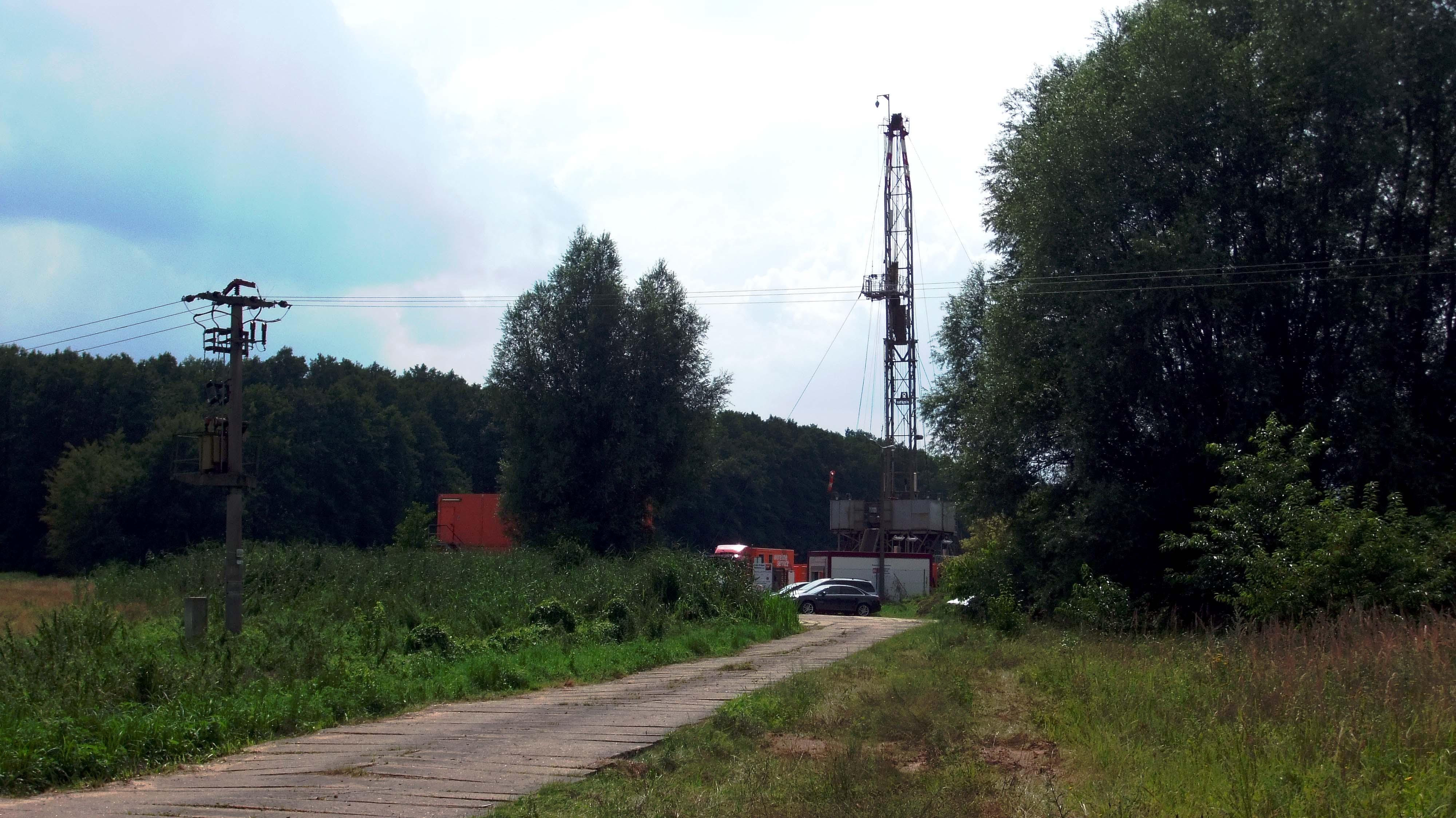 Workovereinsatz auf eine Erdgasbohrung in der Altmark. Sommer 2014. chef79