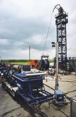 """Fracarbeiten auf der Tightgasbohrung """"Söhlingen Z15"""" Quelle: WEG Wirtschaftsverband Erdöl- und Erdgasgewinnung e.V."""