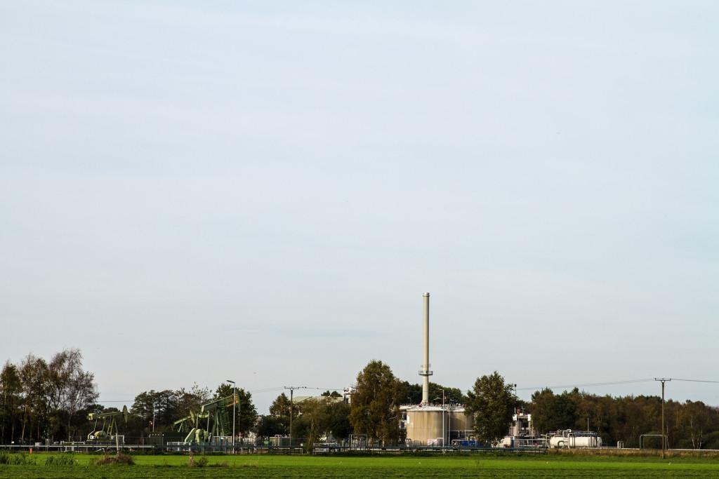 Dampfflutanlage im Erdölfeld Emlichheim.