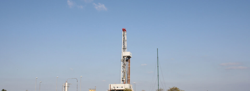 Die Boharanlage ITAG-Rig 27 soll die Erdgasbohrung Päpsen Z2 abteufen