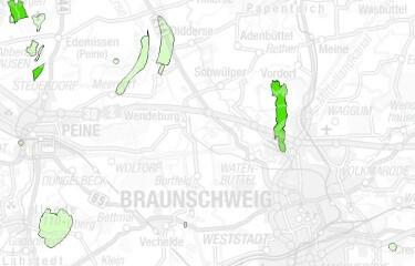 Erdöllagerstätten und -vorkommen bei Braunschweig. Quelle: http://nibis.lbeg.de/cardomap3/