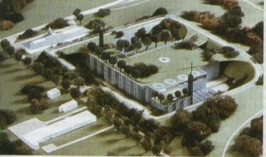 Modell der einst geplanten Erdgasaufbereitungsanlage der Lagerstätte Heringsdorf. Bildquelle: Erdöl und Heimat e.V.