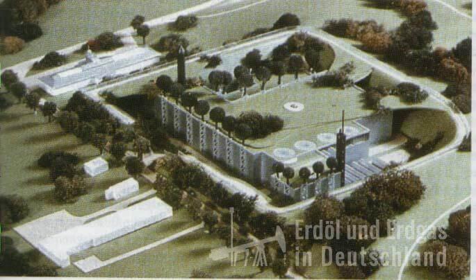Modell Aufbereitungsanlage Erdgaslagerstätte Heringsdorf