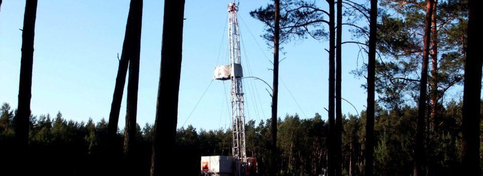 Eines der aufgegebenen Erdgasförderprojekte - Märkisch-Buchholz