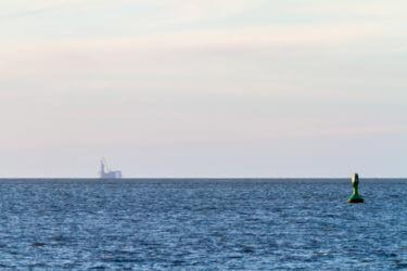 Bohr- und Förderinsel Mittelplate in der Nordsee.