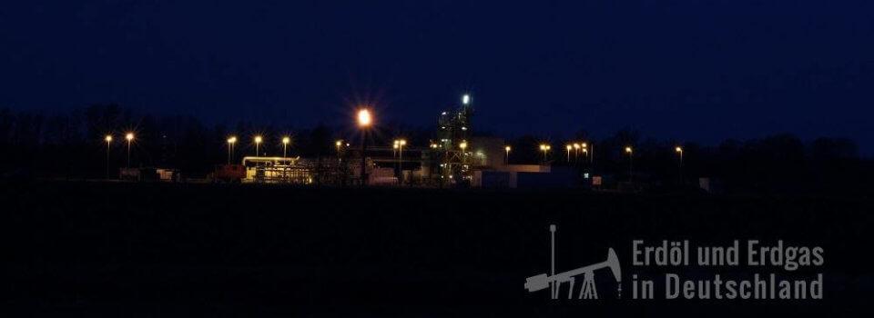 Aufbereitungsanlage Kietz, in der Erdöl und Erdgas nach Reinigung regionalen Verbrauchern und Verarbeitern zugeführt werden.