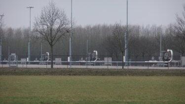 Förderplatz im Erdgasfeld Groningen