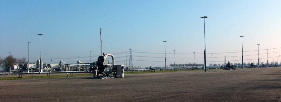 Förderplatz Erdgasfeld Groningen