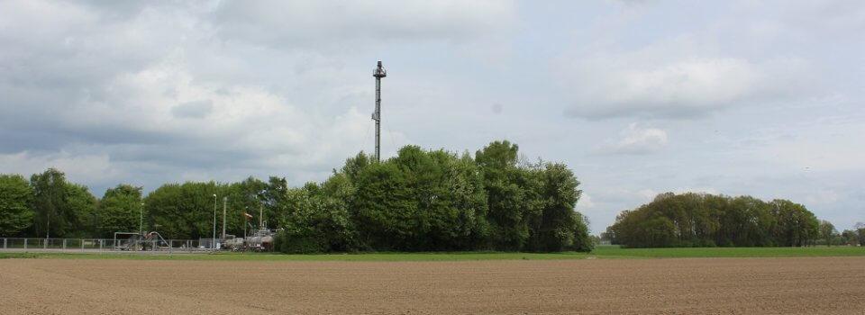 Kohlenwasserstoffbohrungen fallen in der Landschaft kaum auf