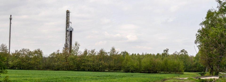 Bohrarbeiten in der Erdgaslagerstätte Uchte-Burgmoor